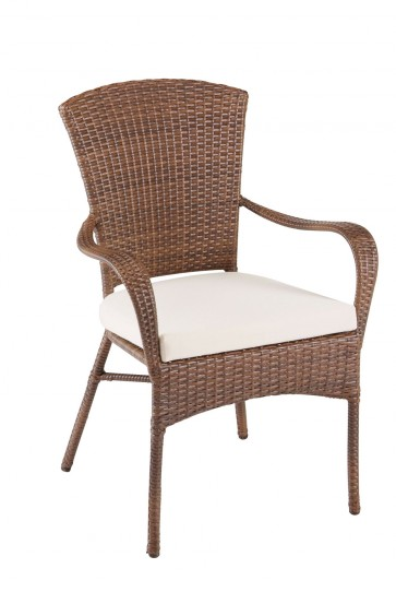 Key Biscayne Stackable Woven Armchair
