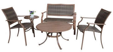 Island Cove Woven 5 PC Seating Group