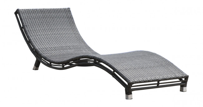 Graphite curved chaise lounge for Curved lounge