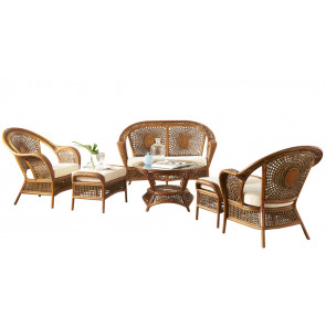 Coral Bay 6 PC Seating Set w/beige cushions