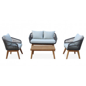Surfers Cove 4 PC Settee w/grey cushions