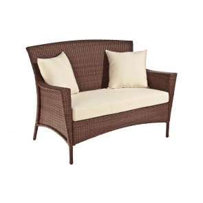 Key Biscayne Woven Loveseat with cushions